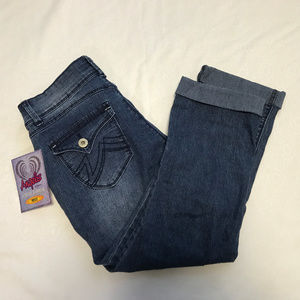 NEW Angels Stretch Capri Fit Jeans Blue 10 Med